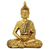 Dusky Seaside Sparrow Thai Buddha Statue Home Ornaments Gold Figur aus Kunstharz BS120