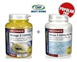 SimplySupplements Omega 3 1000mg 360 capsules + Omega 3 for Kids 500mg 360 capsules | Healthy heart, joints, & mind for parents and kids