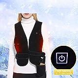 Q&M Gilet Riscaldato Elettrico Indietro Intelligente Termico Giacca Riscaldante Avvolgitore più Caldo Panciotto per All'aperto Escursionismo Snowboard