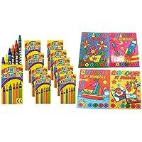 10 Malbücher Malen nach Zahlen Mini-Malbuch 148 x 105 mm Mitgebsel Kinderparty Hochzeit Geschenk für Kinder Geburtstag