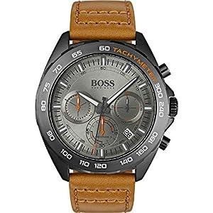 Boss Herren-Uhren Analog Quarz Leder 32000832