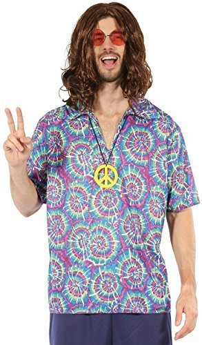 Mens Hippy Shirt with Peace Sign