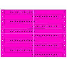 ClubKing Ltd - Pulseras de vinilo (50 unidades), color rosa