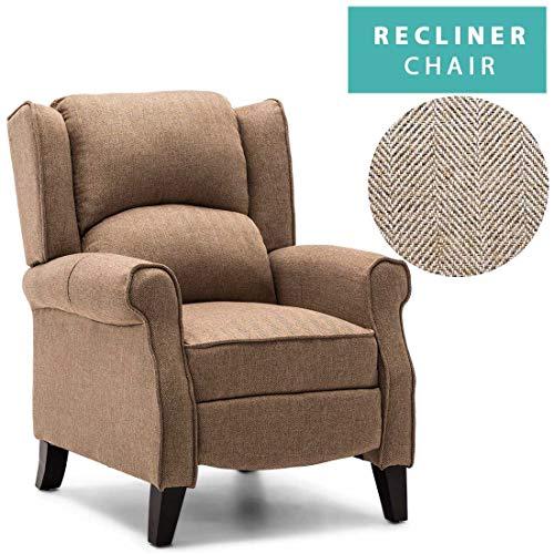 Qihang-UK Fauteuil inclinable Chaise Canapé Fauteuil inclinable Chiar Tissu à Carreaux pour Salon Home Cinéma Jeu
