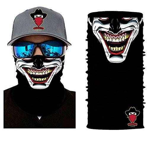 [ 44 Designs ] Bedrucktes Multifunktionstuch Bandana Halstuch Kopftuch: Face Shield aus Mikrofaser - Material ist flexibel und atmungsaktiv - Maske fürs Motorrad-, Fahrrad- und Skifahren (Damen Snowboard Face Bandana)