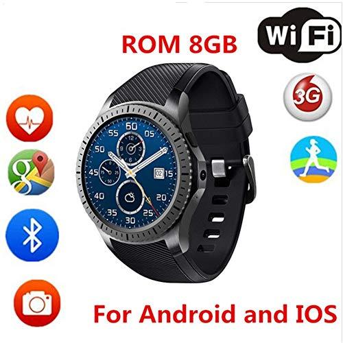 KDSFJIKUYB Montre Connectée Nouveau DM368 3G Smart Watch Android 5 1 GPS  Support WiFi SIM 1 39, Rouge