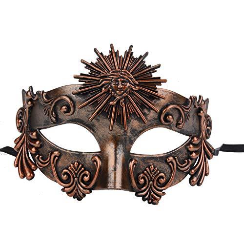 FunPa Venezianischen Masken Vintage Maske Maskerade Ball Maske Griechischen Römischen Helios Party Prom Ball Cosplay Kostüm Verkleiden Sich Zubehör für Karneval Mardi Gras Maske Halloween Dekoration (Prom Mardi Dekorationen Gras)