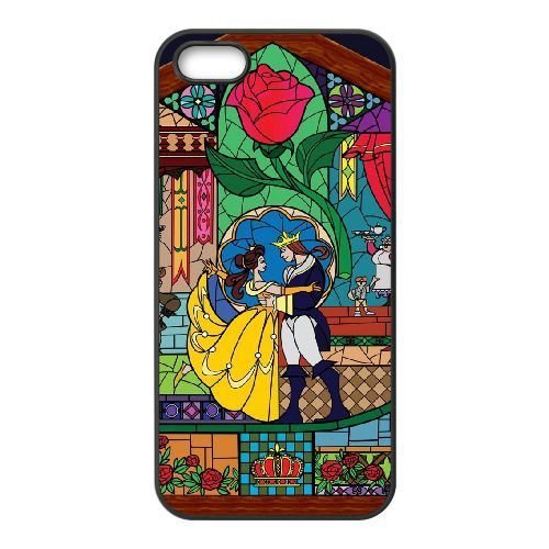 Durable Phone Case iPhone 5, 5S Cell Phone Case Black Zswbr Beauty and the Beast Plastic Durable Cover