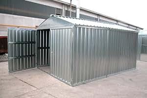 Box casetta in lamiera zincata con struttura in acciaio zincato mt. 5,07x2,60x2,11 h con porta a due ante mod. SAPILBOX