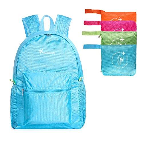 Zaino più leggero, viaggio, zaino da trekking, vacanze, viaggi, trekking, scuola, campeggio e shopping (rosa) blu