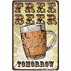 kentop Retro Cartel de chapa libre cerveza Póster Bar metálico para IB Laursen Actividad Publicidad Pared Bar Restaurante Decoración de pared