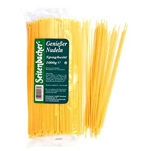 Seitenbacher Frisch-Ei Spaghetti, 4-Bio-Eier / kg, 2er Pack (2 x 1 kg)