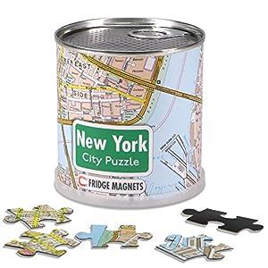 Extra Goods - Puzzle magnético Nueva York enlatado, 100 piezas, 26 x 35 cm (Mapiberia 89004)