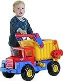 Wader 03555-Truck No 1. Grande Camion con cassone Ribaltabile, 80cm in plastica Molto Resistente