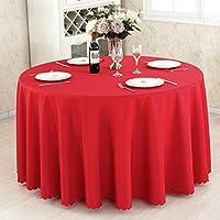 Ispessimento Solid Color Hotel Table Cover Ristorante Tovaglia Meeting Picnic Wedding Banquet Rosso circolare Tovaglia ( colore : E. , dimensioni : 280cm )