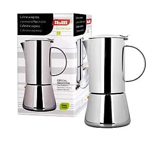 Ibili 620310 Cafetière Express Essential 10 Tasses Inox 18/10