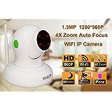 HOSAFE 1080P PTZ IP-Kamera Wireless 4x optische Zoom Home Security Infrarot-Dome-Kamera Audio-Bewegungserkennung E-Mail-Benachrichtigung