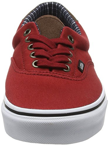 Vans Era 59, Baskets Basses Mixte Adulte Noir (Cord & Plaid red dahlia/true white)