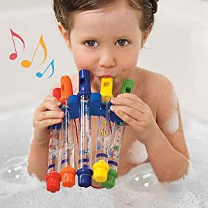 M Toys Water Flutes Whistles Music Sheets Musical Bath Time Toy Stocking Filler by 4 M Toys
