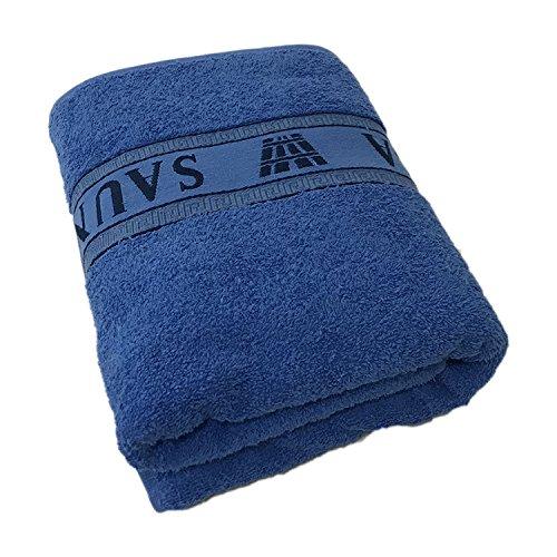 Mojawo XL Saunatuch/Duschtuch mit Jacquardborde \'Sauna\' Luxusqualität 70x180cm 100{1ced5763badb0af2847d9b7f3bc575c5937653bea6da54e524c8cbed1935a96f} Baumwolle, Farben:Blau