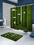 Tenda da bagno con tendina da bagno addensata e aumentata, 180 cm × 200 cm, B