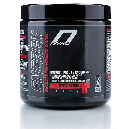 Niyro - Energy Pre-Workout - Energy, Focus & Endurance - Ultra Strong Supplement (300 g Lemon)