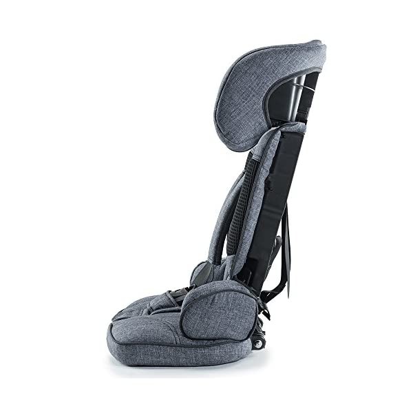 Urban Kanga Uptown Portable and Foldable Travel Car Seat Group 1 | 9-18 Kg (Grey Denim)  FOLDABLE PORTABLE TRAVEL CAR SEAT - Universal Group 1. Suitable for children weighing 9-18 Kg. (20 to 40 LB.) SAFE - Tested and certified to meet ECE R44/04 EUROPEAN SAFETY STANDARD LIGHTWEIGHT - Weighs only 3 KG! Fits in most standard suitcases. Carry bag included! 2