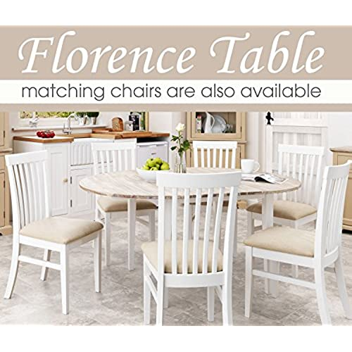 Round kitchen table amazon florence large round oval extended table white kitchen table with center extension 115 160cm quality kitchen dining table with thick acacia top workwithnaturefo
