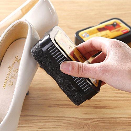 NIUXX Universal 2-Seitig Schuhcreme, Bürste, Ist Hell Farbloses Öl Wartung Reinigung Wachs Bürste Schuhputzmaschine/-Service Schuhputz-Service Schwamm (Reinigungs-services-geschäft)