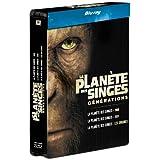 La Planète des singes : les versions 1968, 2001 et 2011 - Edition limitée boitier métal [Blu-ray]