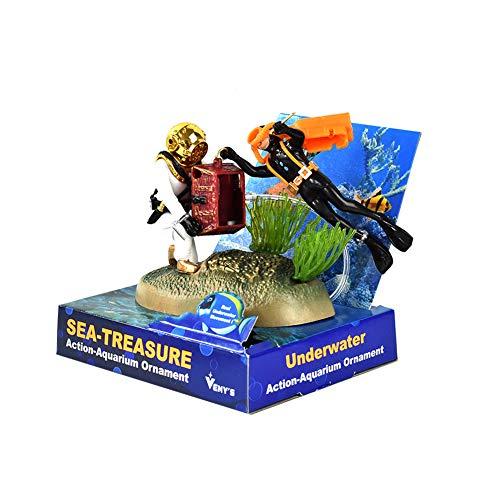 OMEM Aquarium-Landschaftsbildung, lustige Ornamente pneumatische Sauerstoffpumpe für Zwei Männer