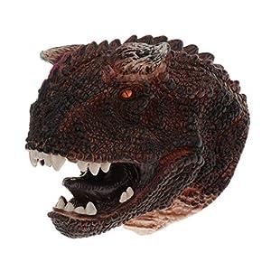 perfeclan Dinosaure réaliste Animal tête modèle marionnette à Main pour Les Enfants – Carnotaurus