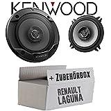 Renault Laguna 2 - Lautsprecher Boxen Kenwood KFC-S1366-13cm 2-Wege Koax Auto Einbauzubehör - Einbauset