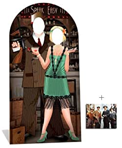 Fan Pack - Roaring 1920s Speakeasy Lifesize Cardboard Cutout / Standee - Gangsters and Molls - Includes 8x10 (20x25cm) Star Photo