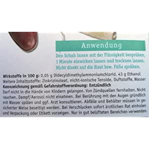 Primaderm Schuhdesinfektion aldehydfrei, Desinfektionsmittel gegen Pilze, Bakterien und Viren in Schuhen