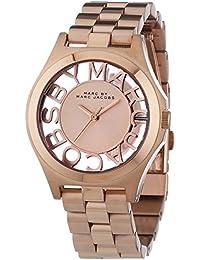 Marc Jacobs MBM3293 - Reloj para mujer con correa de acero, color dorado / gris