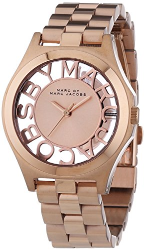 Marc by Marc Jacobs Women's Analogue Watch with Gold Dial Analogue Display - MBM3293