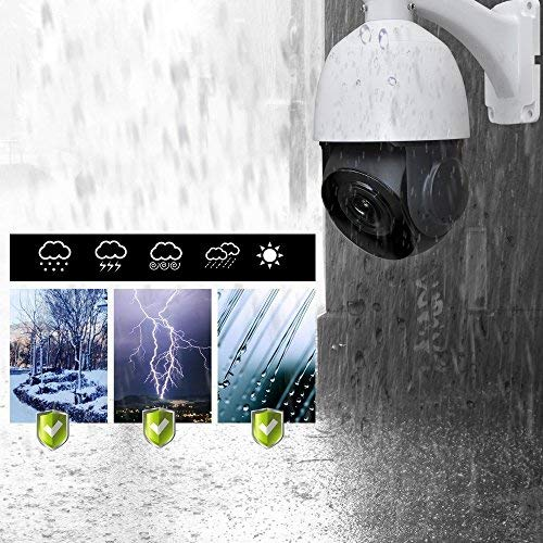 PTZ Kamera, LEFTEK Mini Outdoor POE IP PTZ Kamera 2,0 Megapixel (1920×1080 Pixel) IR High Speed PoE Dome Kamera Nachtsicht 20x Zoom 4.7mm-94mm Objektiv 196ft IR Abstand H.265 / H.264 Onvif