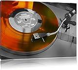 alter Schallplattenspieler schwarz/weiß Format: 120x80 auf Leinwand, XXL riesige Bilder fertig gerahmt mit Keilrahmen, Kunstdruck auf Wandbild mit Rahmen, günstiger als Gemälde oder Ölbild, kein Poster oder Plakat