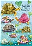 Doppelkarte mit Umschlag MILA MARQUIS Geburtstag * Schildkröten