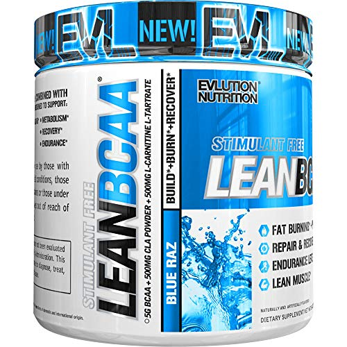 51NwYT9VvCL. SS500  - Evlution Nutrition LeanBCAA, BCAA's, CLA and L-Carnitine, Stimulant-Free, Recover and Burn Fat, Sugar and Gluten Free…