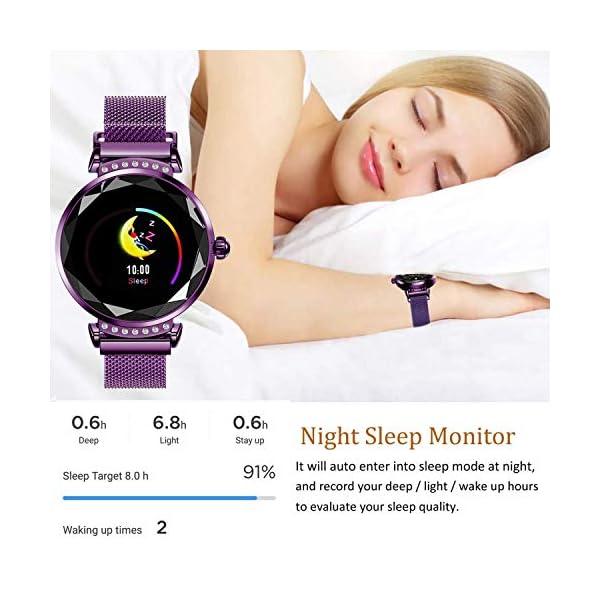 wetwgvsa Fitness Tracker Reloj Pulsera presión Sanguigna pulsómetro de muñeca Actividad Tracker Smartwatch H2 Monitor… 5
