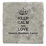 Keep Calm and love Helena Bonham Carter - Marble Tile Drink Coaster