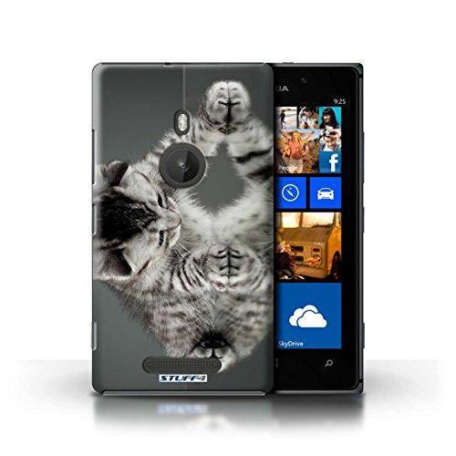 Kobalt® Imprimé Etui / Coque pour Nokia Lumia 925 / Botte en caoutchouc conception / Série Chatons mignons Miroir