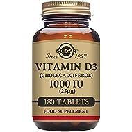 Solgar Vitamin D3 (Cholecalciferol) 1000 IU (25 µg) Tablets - Pack of 180