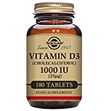 Solgar, Natural Vitamin D3, 1000 IU, 180 Tablets