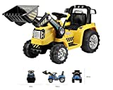 Trendsky® Kinder Bagger Gelb Kinderauto Akku Kinderfahrzeug 12V Auto 2xMOTOR Kinderbagger Elektrobagger