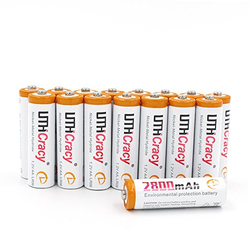 AA High-Capacity 2800mAh Rechargeable Batteries(16-Pack) UTHCracy