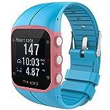 pour Polar M400 M430 Fitness Watch Bracelet, Souple Silicone Adjustable Dragonne Mode Sport Montre Remplacement Bande, pour Polar M400 M430 Fitness Watch, JSxhisxnuid Accessoires (Ciel Bleu)