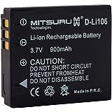 Mitsuru® batterie de remplacement pour Fuji NP-70 Leica BP-DC4 Panasonic CGA-S005 Pentax D-Li106 Ricoh DB-60 DB-65, compatible avec Mpro 110 Micro Projector Fujifilm FinePix F40 F40FD F47FD Leica C-LUX 1 D-LUX 2 D-LUX 3 D-LUX 4 Panasonic Lumix DMC-FC01 DMC-FX01 DMC-FX07 DMC-FX10 DMC-FX100 DMC-FX12 DMC-FX150 DMC-FX3 DMC-FX50 DMC-FX8 DMC-FX9 DMC-LX1 DMC-LX2 DMC-LX3 DMC-LX9 Pentax Optio X90 Ricoh Caplio G600 GR Digital GR Digital II GX100 GX200 R3 R30 R4 R40 R5